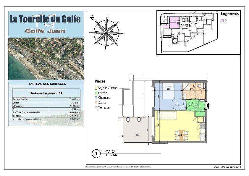 Appartement à vendre 2 40.03m2 à Golfe Juan - Vallauris vignette-3