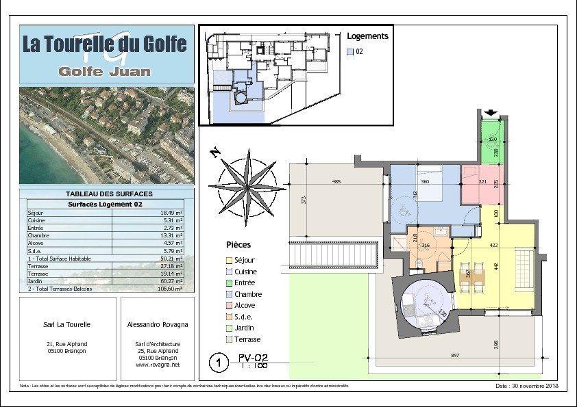 Appartement à vendre 2 50.21m2 à Golfe Juan - Vallauris vignette-2