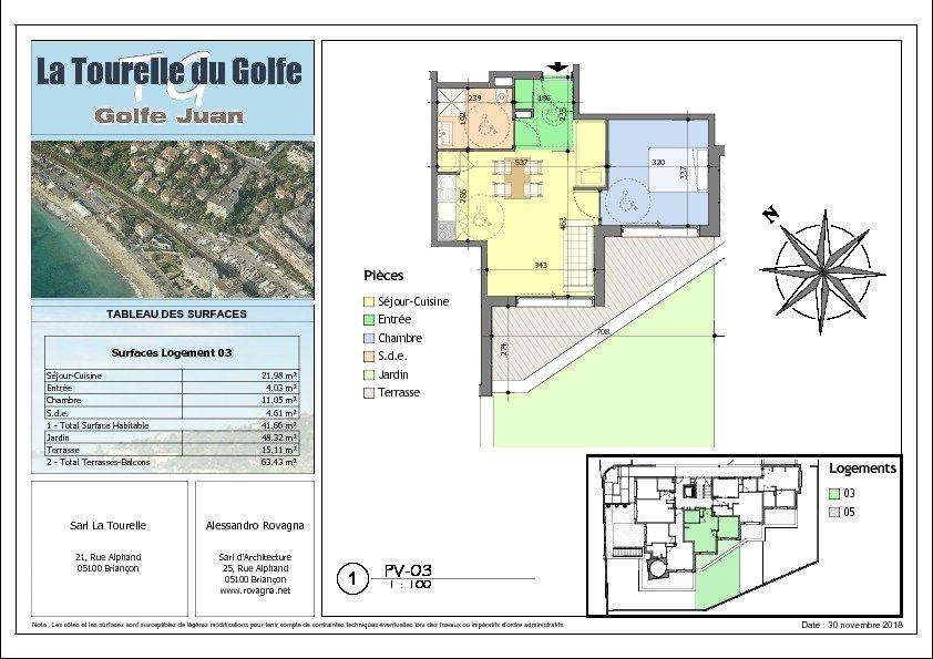 Appartement à vendre 2 41.66m2 à Golfe Juan - Vallauris vignette-3