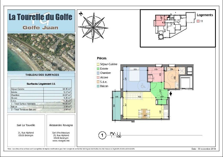 Appartement à vendre 2 44.9m2 à Golfe Juan - Vallauris vignette-2
