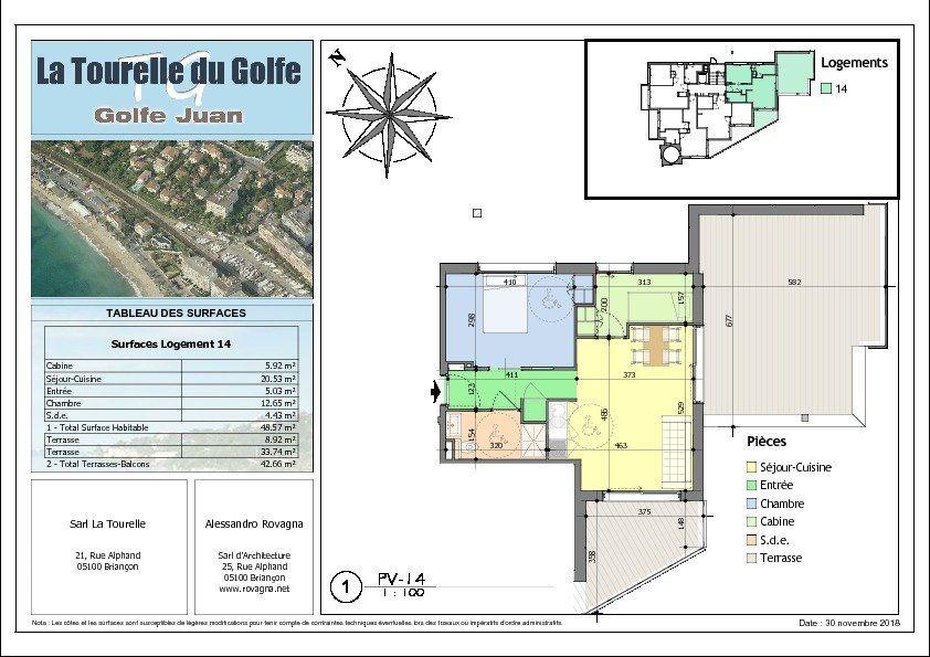 Appartement à vendre 2 48.57m2 à Golfe Juan - Vallauris vignette-2
