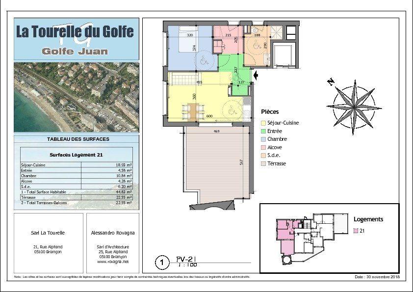 Appartement à vendre 2 44.83m2 à Golfe Juan - Vallauris vignette-2