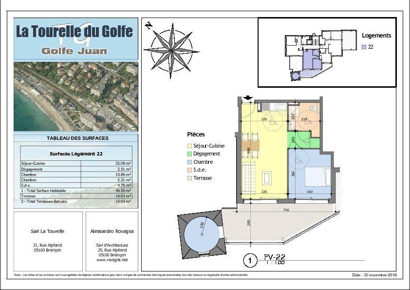 Appartement à vendre 3 46.5m2 à Golfe Juan - Vallauris vignette-2