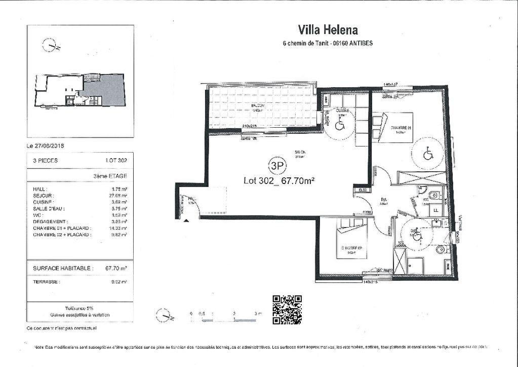 Appartement à vendre 3 67.7m2 à Juan-les-Pins - Antibes vignette-2
