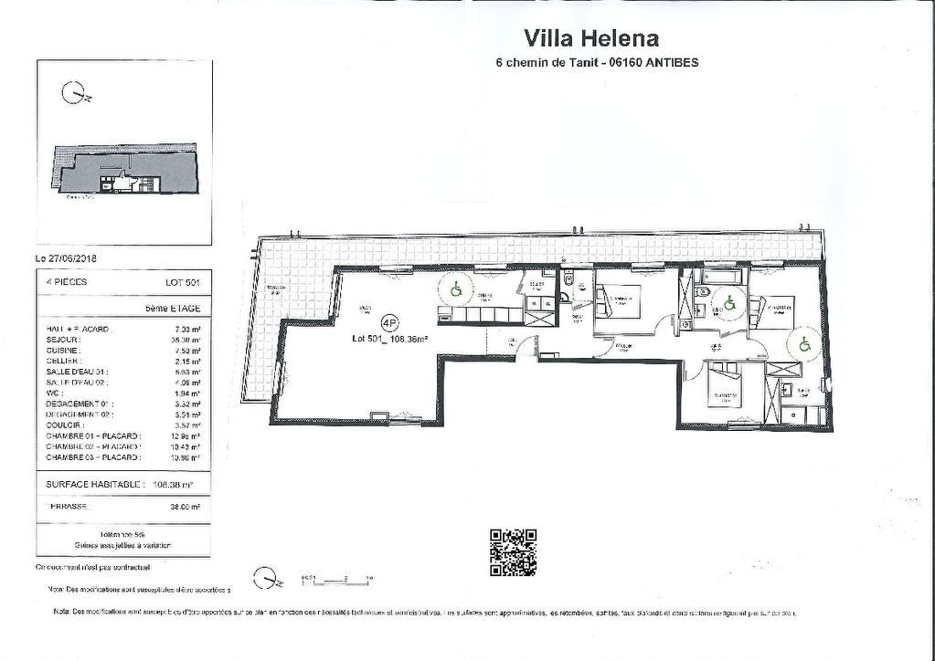 Appartement à vendre 4 108m2 à Juan-les-Pins - Antibes vignette-4