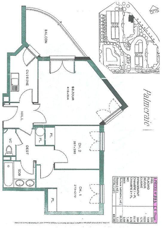 Appartement à vendre 3 56m2 à Biot vignette-3