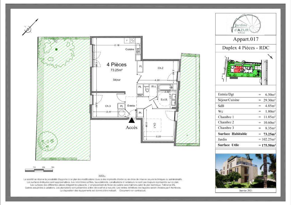 Appartement à vendre 4 73.25m2 à Golfe Juan - Vallauris vignette-3