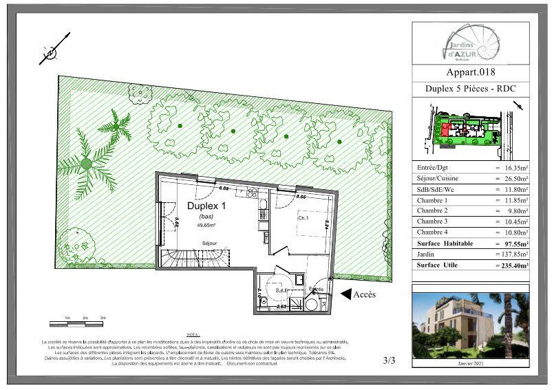 Appartement à vendre 5 73.25m2 à Golfe Juan - Vallauris vignette-3