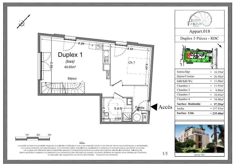 Appartement à vendre 5 73.25m2 à Golfe Juan - Vallauris vignette-4