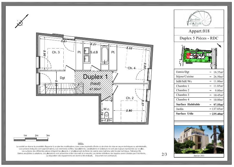 Appartement à vendre 5 73.25m2 à Golfe Juan - Vallauris vignette-5