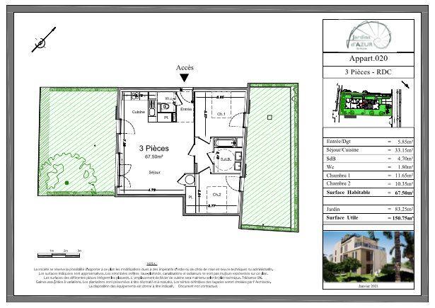 Appartement à vendre 3 67.5m2 à Golfe Juan - Vallauris vignette-3