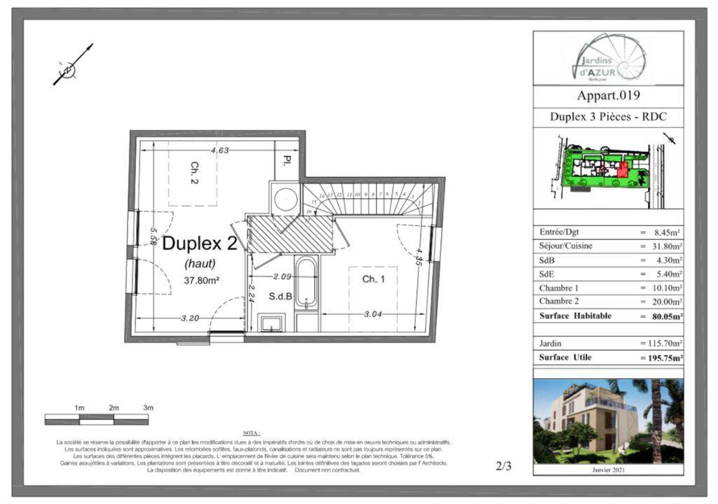 Appartement à vendre 3 80.05m2 à Golfe Juan - Vallauris vignette-3