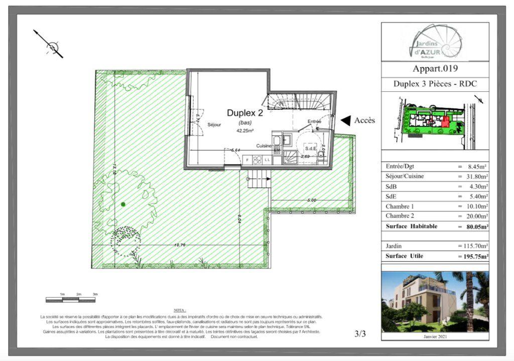 Appartement à vendre 3 80.05m2 à Golfe Juan - Vallauris vignette-4