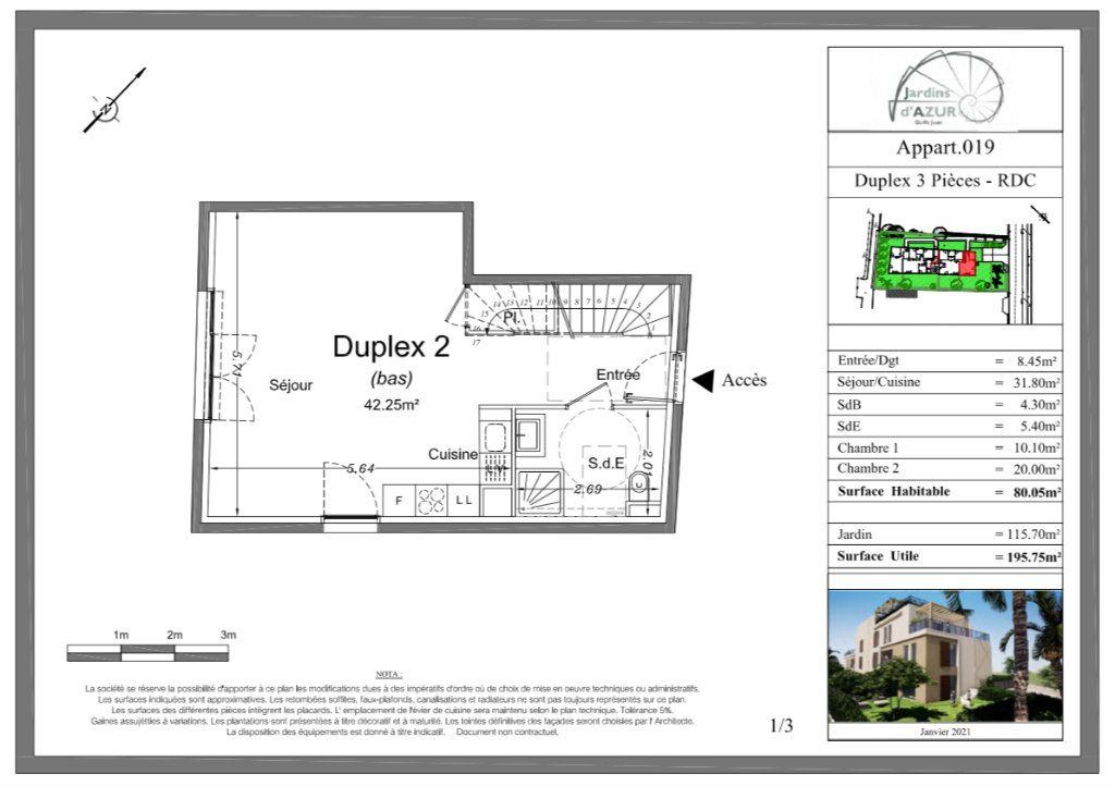 Appartement à vendre 3 80.05m2 à Golfe Juan - Vallauris vignette-5