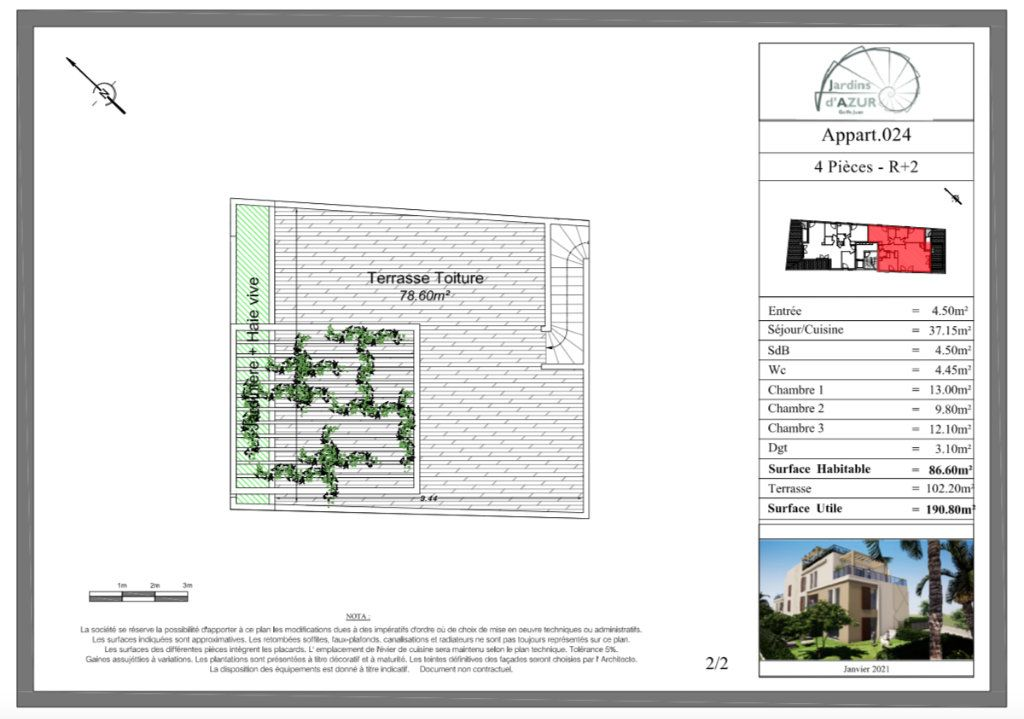 Appartement à vendre 4 88.6m2 à Golfe Juan - Vallauris vignette-3
