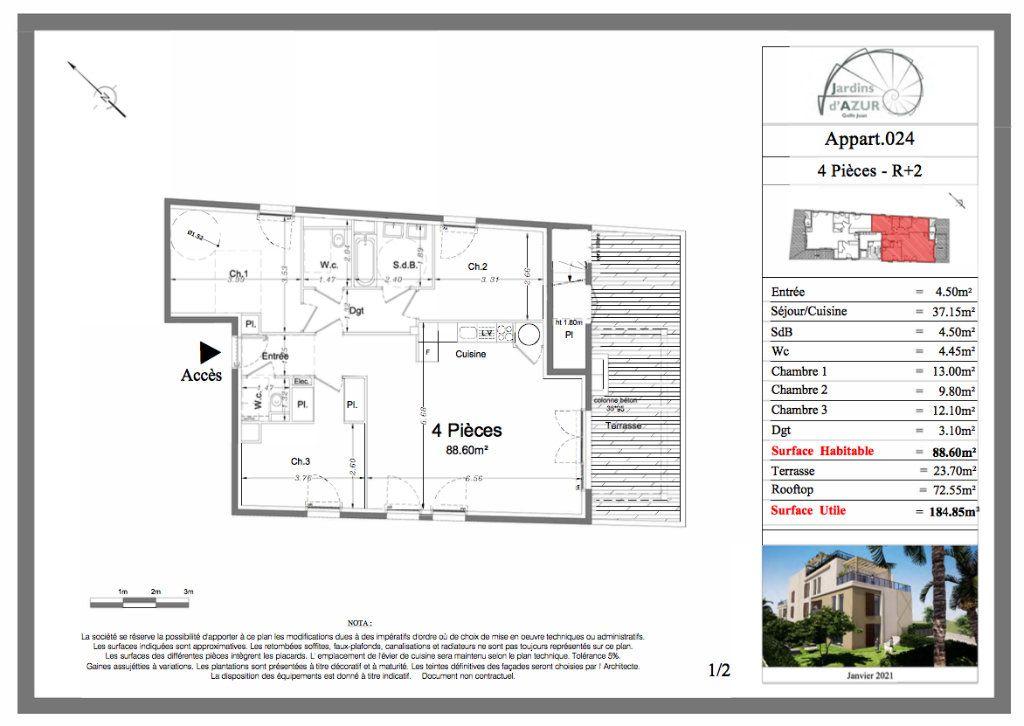 Appartement à vendre 4 88.6m2 à Golfe Juan - Vallauris vignette-4