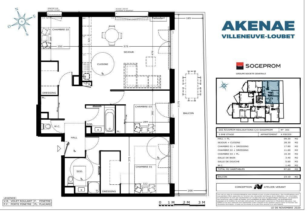 Appartement à vendre 4 87.5m2 à Villeneuve-Loubet vignette-4