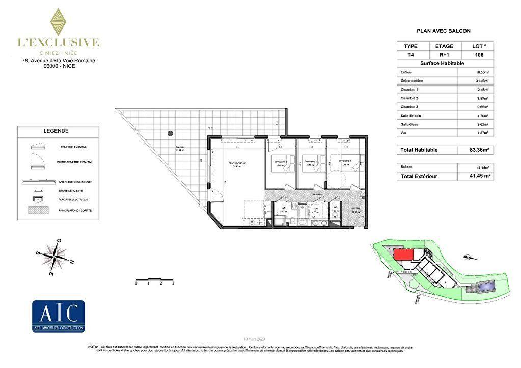 Appartement à vendre 4 130.4m2 à Nice plan-1