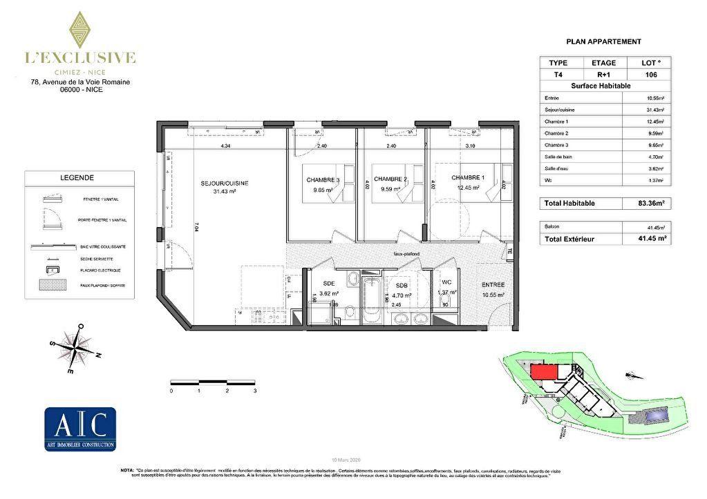 Appartement à vendre 4 130.4m2 à Nice plan-2