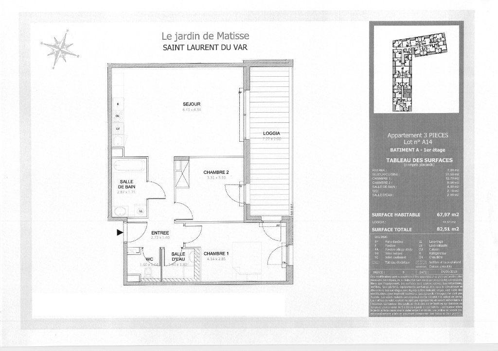 Appartement à louer 3 68m2 à Saint-Laurent-du-Var vignette-1