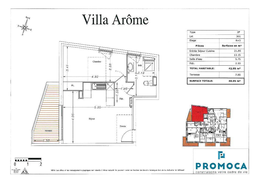 Appartement à louer 2 43m2 à Saint-Laurent-du-Var vignette-5