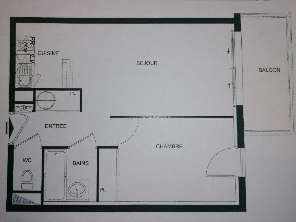 Appartement à louer 2 38m2 à Malemort-sur-Corrèze plan-1