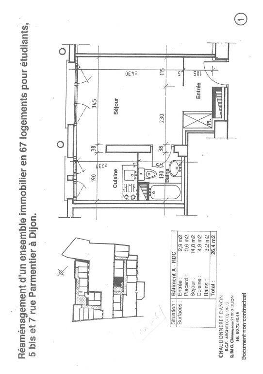 Appartement à louer 1 25.27m2 à Dijon vignette-2