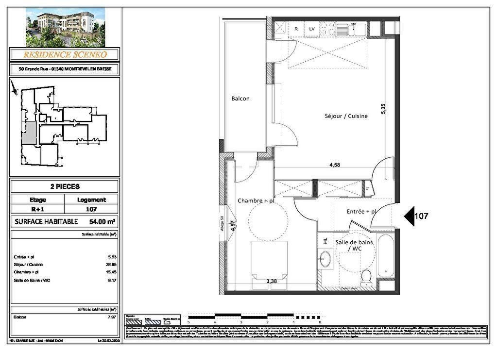 Appartement à vendre 3 54m2 à Montrevel-en-Bresse vignette-5