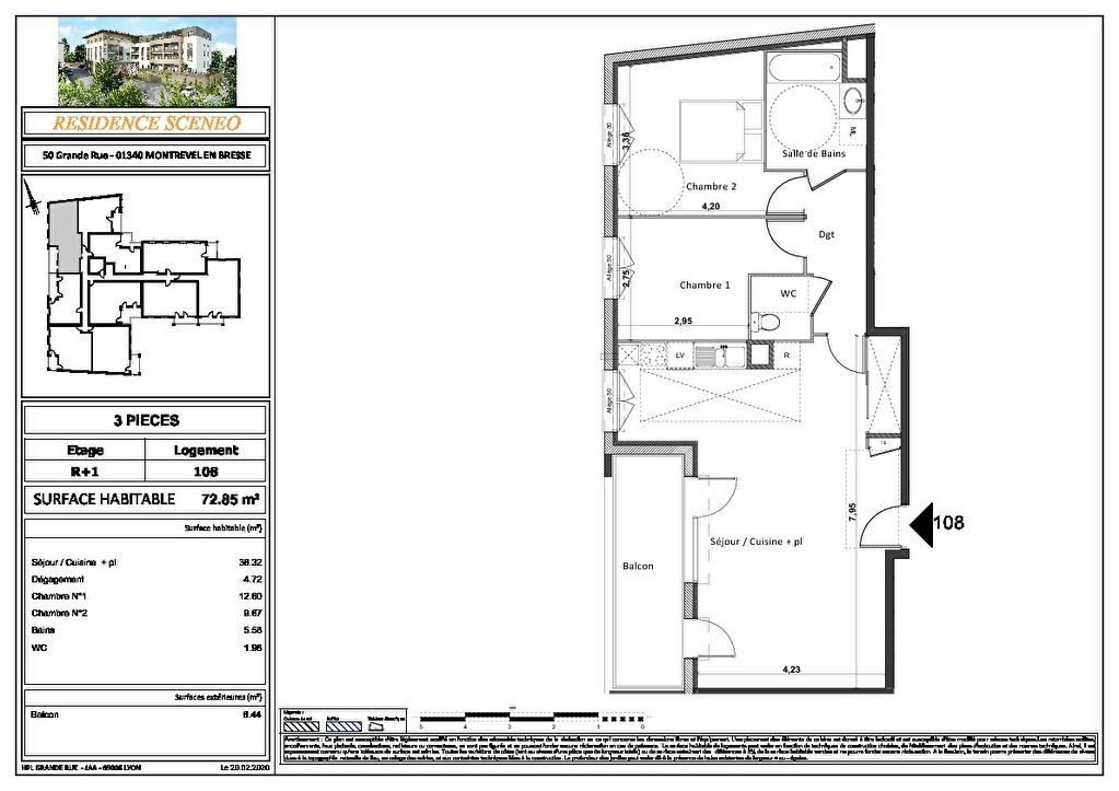 Appartement à vendre 3 54m2 à Montrevel-en-Bresse vignette-6