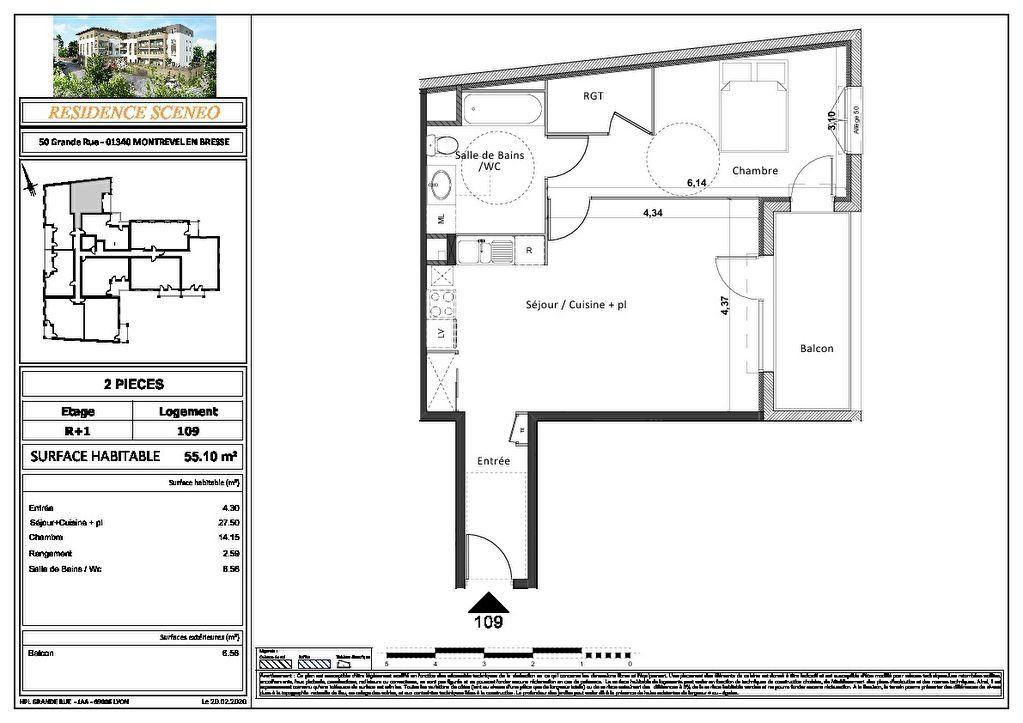 Appartement à vendre 3 54m2 à Montrevel-en-Bresse vignette-7