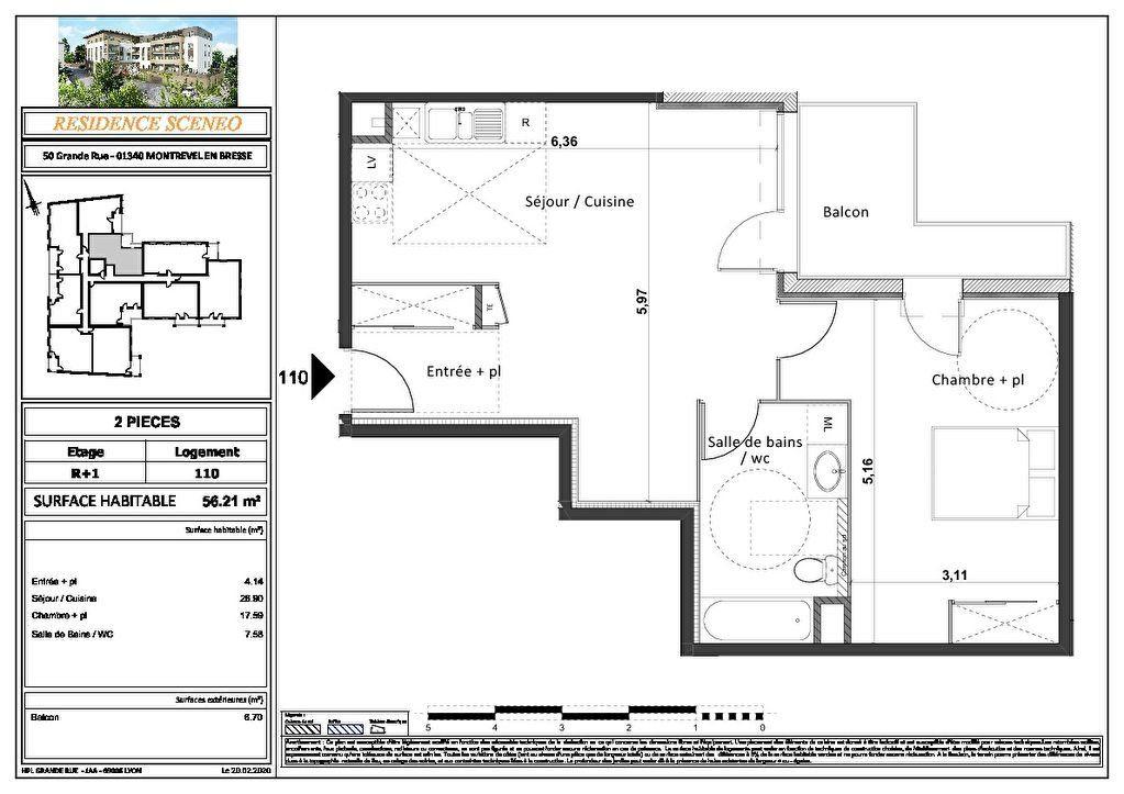 Appartement à vendre 3 54m2 à Montrevel-en-Bresse vignette-8