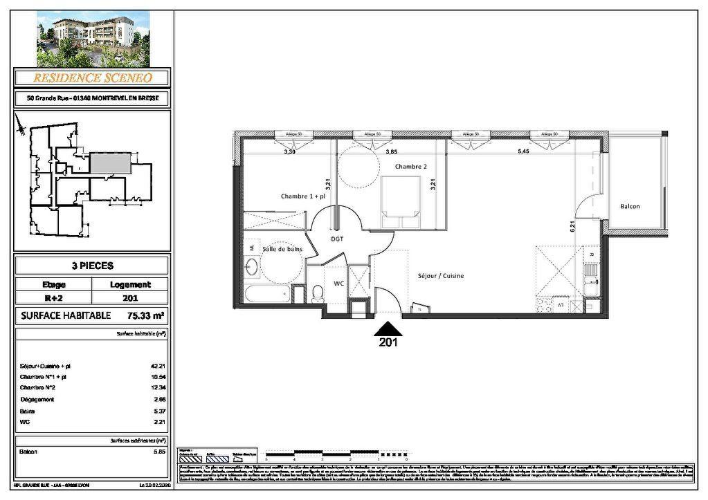 Appartement à vendre 3 54m2 à Montrevel-en-Bresse vignette-9