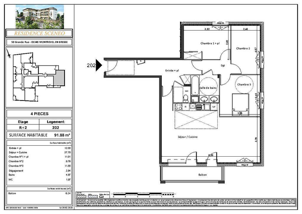 Appartement à vendre 3 54m2 à Montrevel-en-Bresse vignette-10