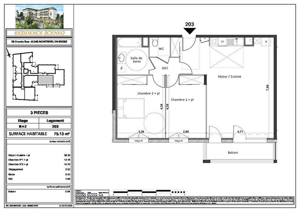 Appartement à vendre 3 54m2 à Montrevel-en-Bresse vignette-11