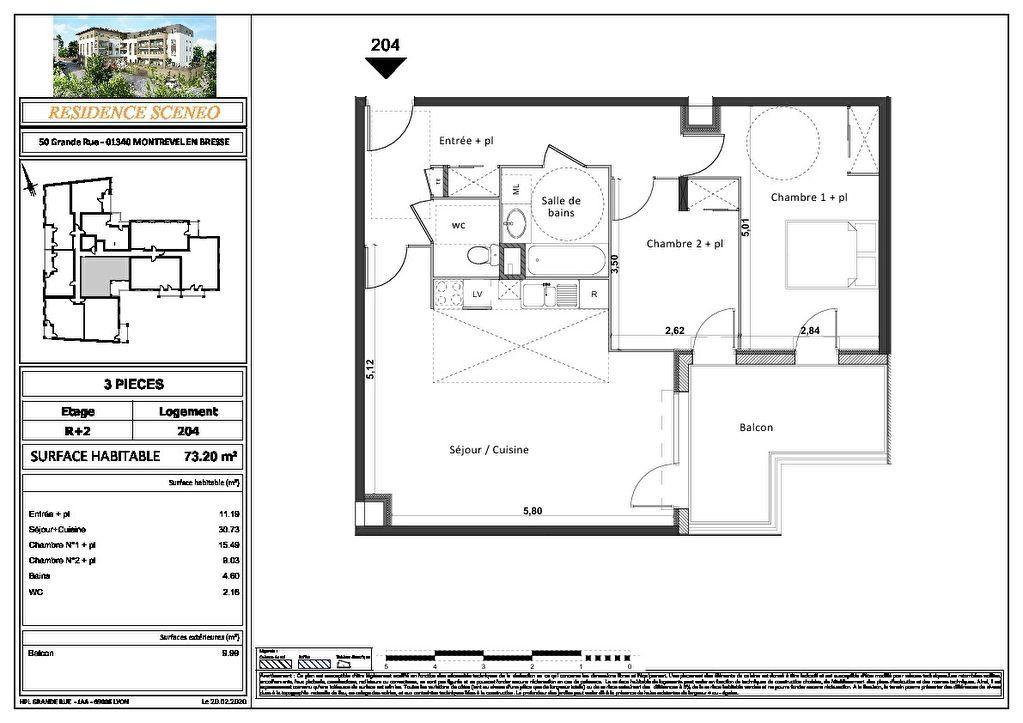 Appartement à vendre 3 54m2 à Montrevel-en-Bresse vignette-12