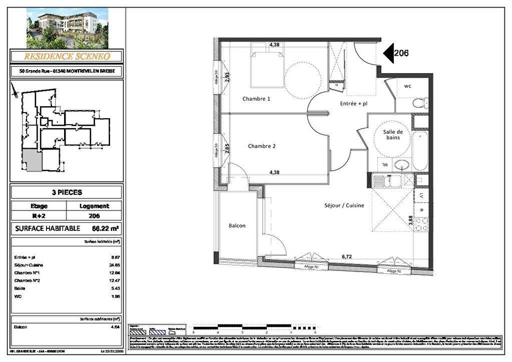 Appartement à vendre 3 54m2 à Montrevel-en-Bresse vignette-14