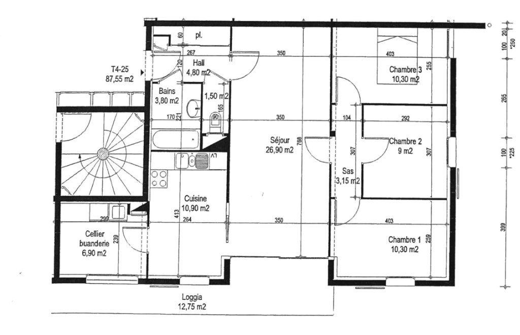Appartement à vendre 5 87.55m2 à Attignat vignette-3