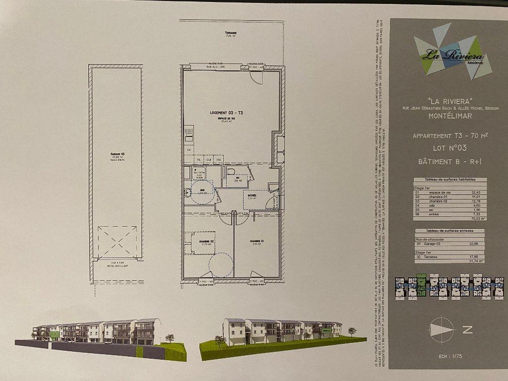 Appartement à vendre 3 69.95m2 à Montélimar vignette-3