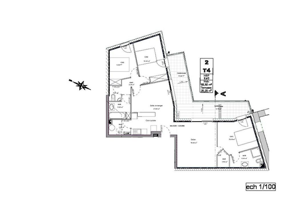 Appartement à louer 4 92m2 à Lansargues vignette-2