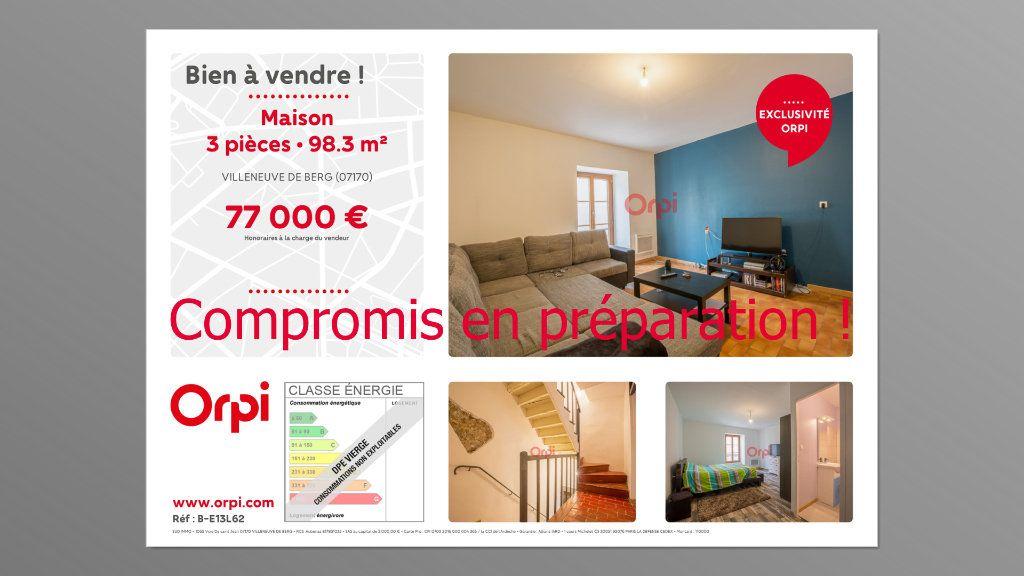 Maison à vendre 3 98.3m2 à Villeneuve-de-Berg vignette-1