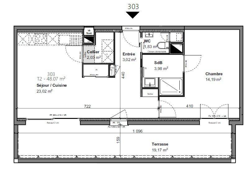 Appartement à vendre 2 48.02m2 à Pau vignette-2