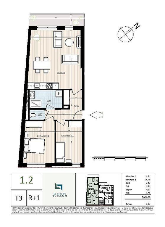 Appartement à vendre 3 65.4m2 à Lille vignette-2