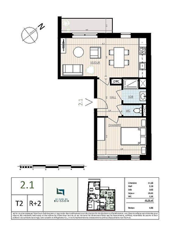Appartement à vendre 2 41.5m2 à Lille vignette-2