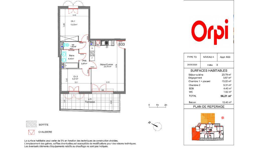 Appartement à vendre 4 56.21m2 à La Crau vignette-2