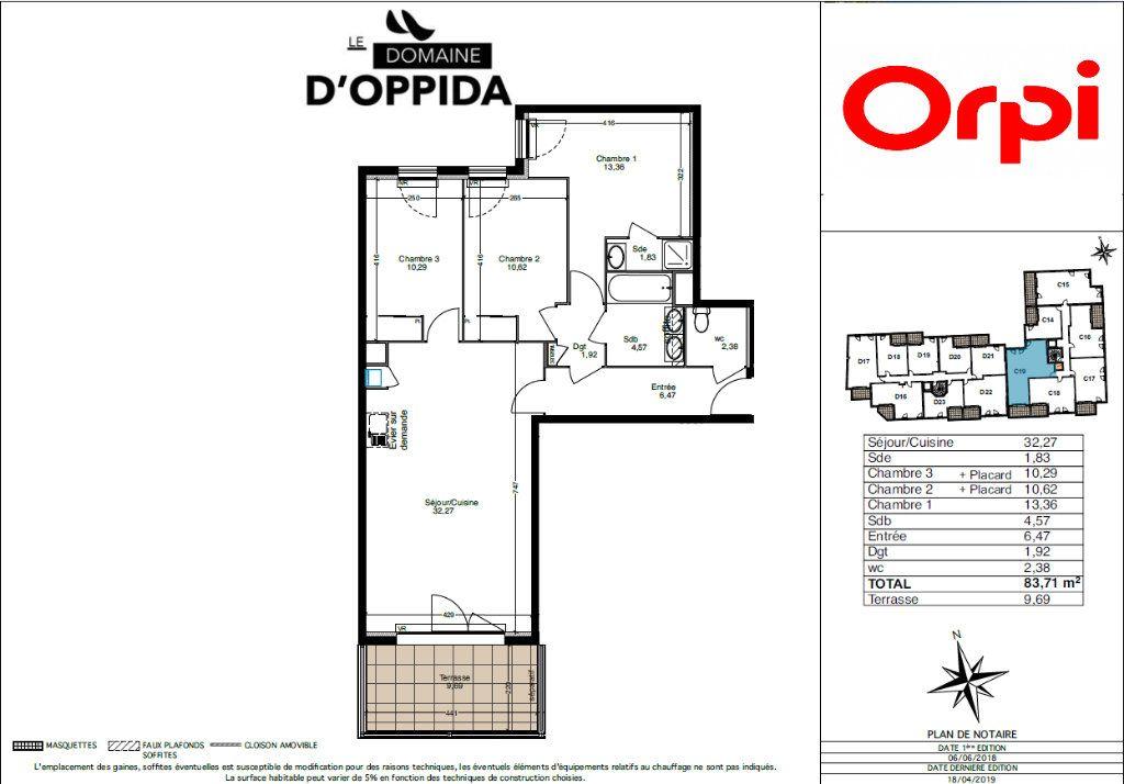 Appartement à vendre 4 83.71m2 à Cuers vignette-2
