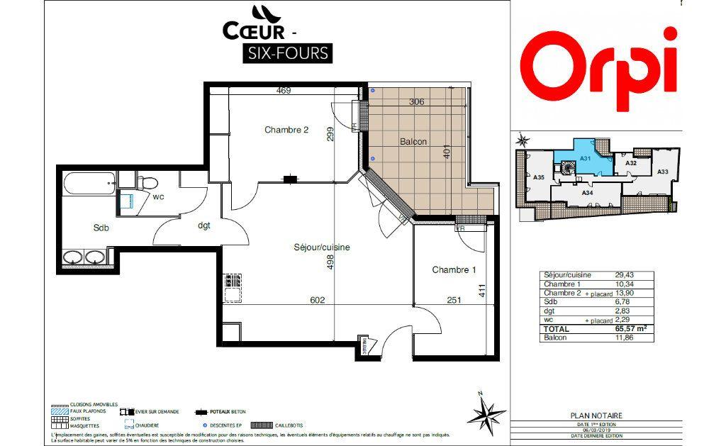 Appartement à vendre 3 65.75m2 à Six-Fours-les-Plages vignette-2