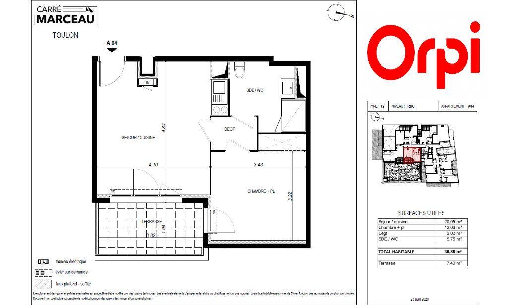 Appartement à vendre 2 40m2 à Toulon vignette-2