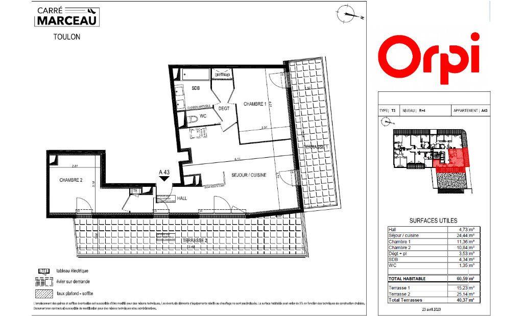 Appartement à vendre 3 60m2 à Toulon vignette-2