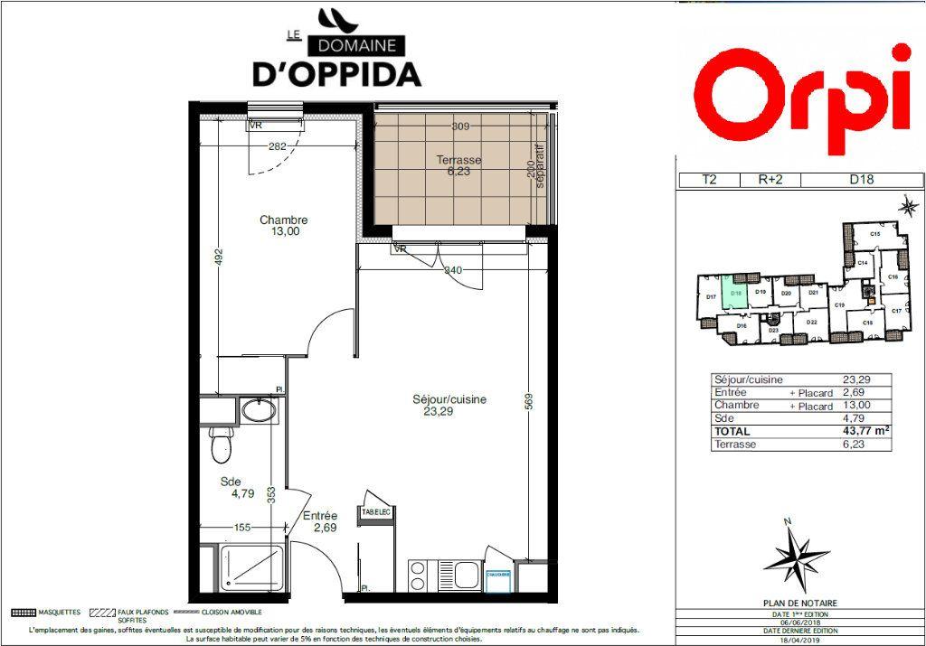Appartement à vendre 2 44m2 à Cuers vignette-2