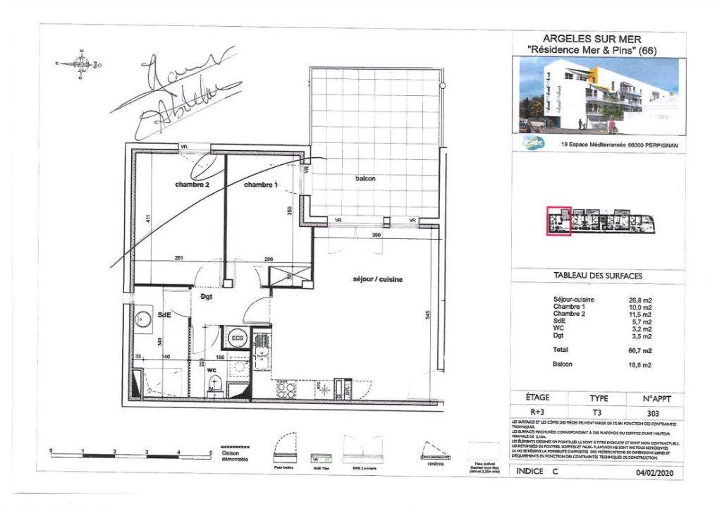 Appartement à louer 3 60.7m2 à Argelès-sur-Mer vignette-2